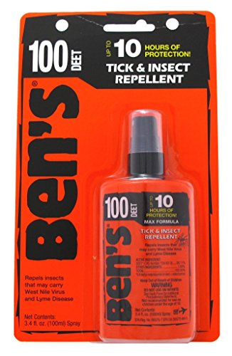 Bens Tick & Insect Repellant 100 Deet 3.4 Ounce Pump Carded (100ml) (6 Pack)