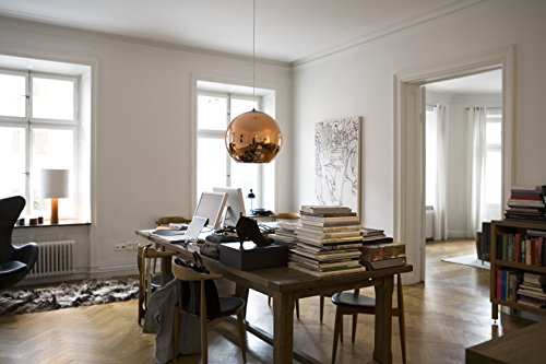 Large Copper Ball Pendant Light in US - 1
