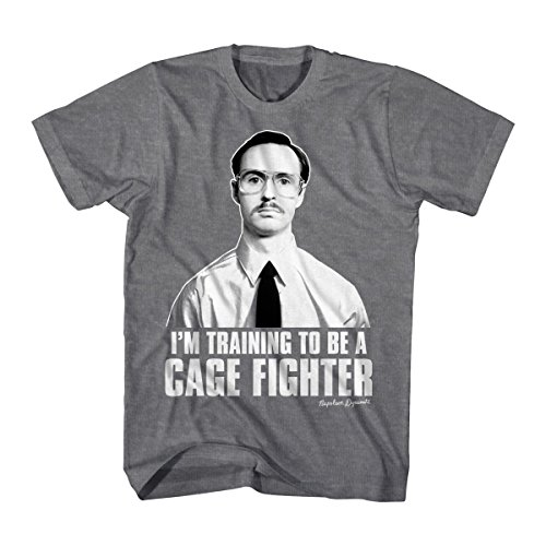 Napoleon Dynamite Comedy Movie Cage Fighter Adult T-Shirt Tee Black ()