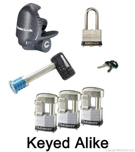 Master Lock - 6 Trailer Locks Keyed Alike 6KA-37937-3