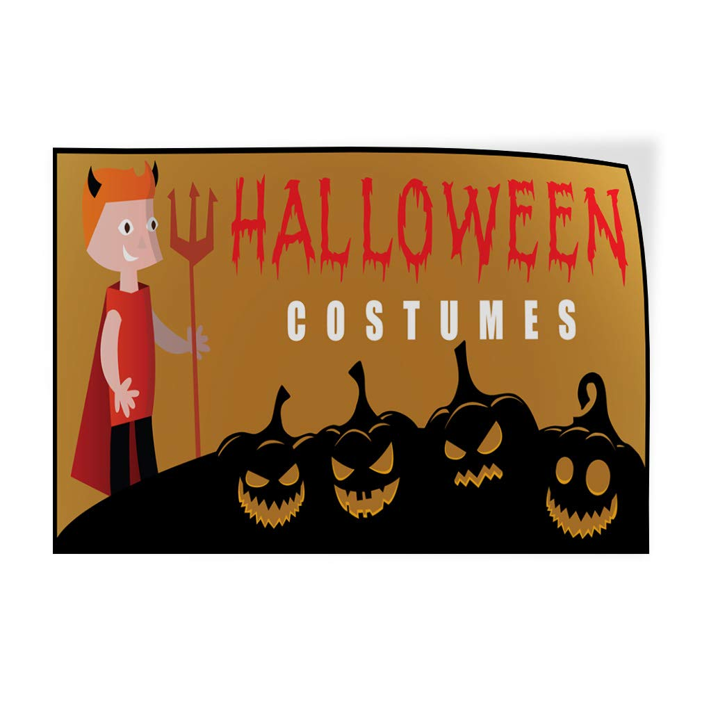 Decal Sticker Multiple Sizes Halloween Costumes Business Style S Holidays and Occasions Halloween Costumes Outdoor Store Sign Brown 52inx34in,