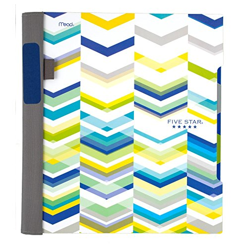"Five Star Advance Spiral Notebook, 2 Subject, College Ruled Paper, 120 Sheets, 11"" x 8-1/2"", Chevron Design (73143)"
