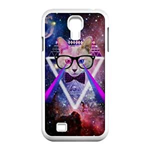Galaxy Hipster Cat Original New Print DIY Phone Case for SamSung Galaxy S4 I9500,personalized case cover ygtg550304