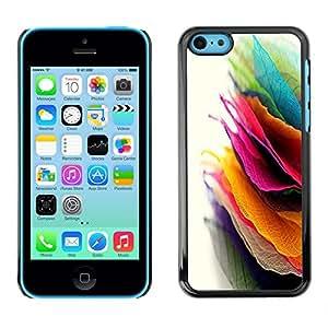 X-ray Impreso colorido protector duro espalda Funda piel de Shell para Apple iPhone 5C - Autumn Leafs Colorful Pile Art Bright