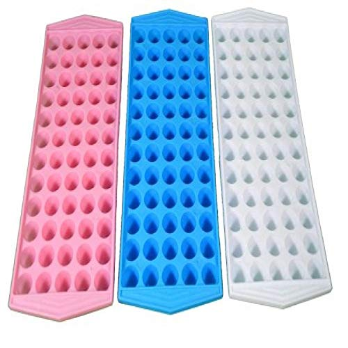 (OKSLO 1 x lot of 3 mini ice cube trays makes 180 home bar drinks)