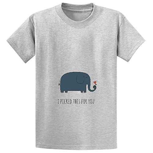 chas-i-picked-this-for-you-girls-crew-neck-graphic-shirts-grey
