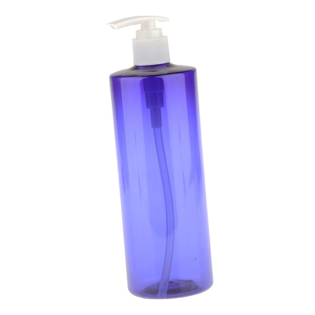 Sharplace 500ml Bottiglia Vuota Lozione Pompa Blu Bottiglia di Plastica Ricaricabile Vaporizzatori Bottle