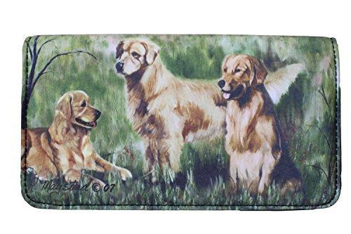 Golden Retriever Dog 4 1/4'' x 7 1/4'' wallet by Ruth Maystead
