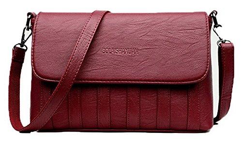 Aalardom Borse Incrociate Casuale Donne Di Decorate Moda Dell'unità Bordeaux Tsmbh180850 Elaborazione 1qpwOdp