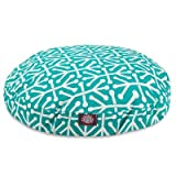 Pacific Aruba Small Round Indoor Outdoor Pet Dog Bed With Removable Washable Cover By Majestic Pet Products by Majestic Pet