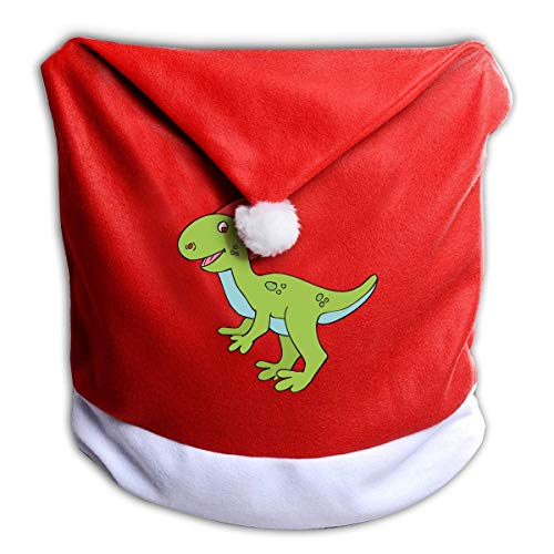 Halloween Cute Dinosaur Clipart Non-Woven Xmas Christmas Themed Dinner Chair Cap Hat Covers Set Ornaments Backers Protector for Seat Slipcovers Wraps Coverings Decorations