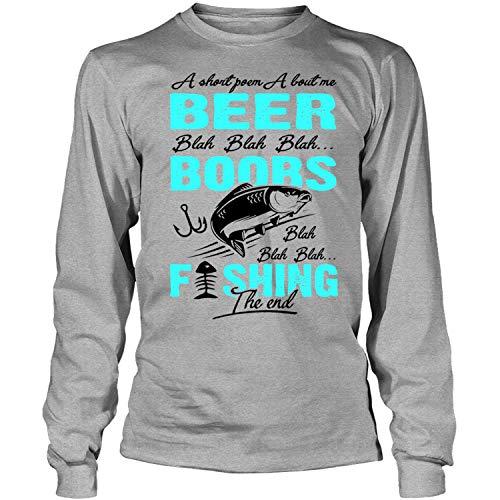I Am A Hooker Long Sleeve Tees, A Short Poem About Me Beer T Shirt-LongTee (XXL, Sport Grey) ()