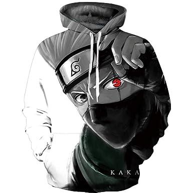 Lonimor Impresión 3D Sudaderas Hombre Unisex con Capucha Camisa para Impreso Arte Tops Chaqueta Abrigo Ropa Camiseta de Beisbol Naruto Kakashi S-XXXL: ...