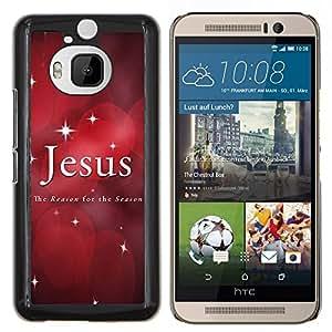 Stuss Case / Funda Carcasa protectora - Estrellas de Navidad Fe Red Cita - HTC One M9Plus M9+ M9 Plus