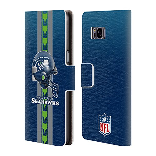 Official NFL Helmet Seattle Seahawks Logo Leather Book Wallet Case Cover For Samsung Galaxy S8+ / S8 Plus (Nfl Logo Leather)
