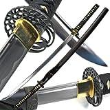 (US) Ace Martial Arts Supply Classic Crane Tsuba Handmade Samurai Katana Sharp Sword-Musha