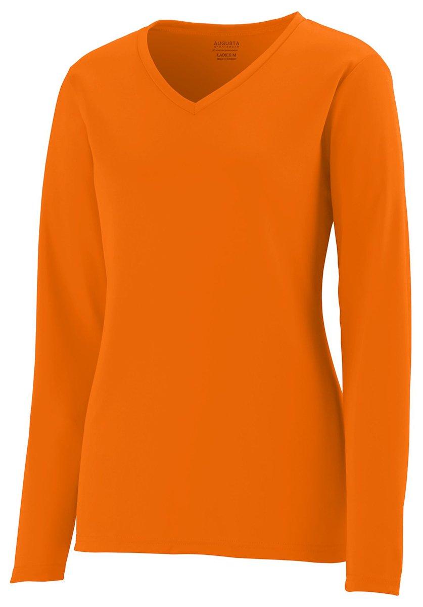 Augusta Sportswear Women's Long Sleeve Wicking T-Shirt XL Power Orange by Augusta Sportswear