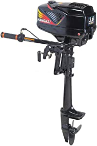 LOYALHEARTDY Outboard Motor Boat Engine 3.6HP 2 Stroke Heavy Duty Outboard Motor with Water Cooling, 55cc Boat Machine for Kayak Fishing Boat