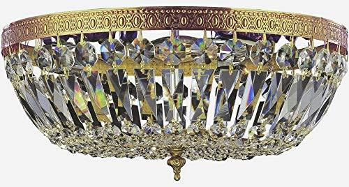 - Cortland Crystal Basket 3 Light Flush Mount Crystal Grade: Hand Polished