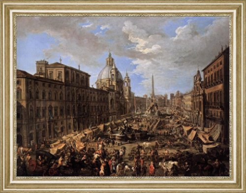 market-in-the-piazza-navona-in-rome-by-andrea-locatelli-15-x-19-framed-premium-canvas-print