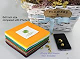 Life Glow DIY Polyester Soft Felt Fabric Squares Sheets Assorted Colors 6x6 inch (15x15cm) for Crafts, 1.5mm Thick 42Pcs