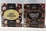 Baker's No Bake Dessert Cookie Balls Kit, White Chocolate and Chocolate Truffle 8.6 Ounce (2 Pack)