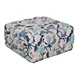 HomePop Large Square All-Over Tufted Ottoman Multi