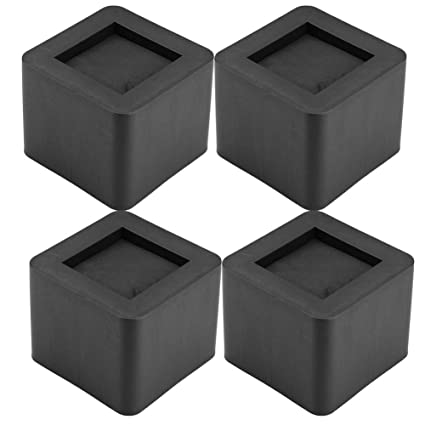 Outstanding Cocoarm Sofa Risers 4 Pcs Furniture Raisers Heavy Duty Square Bed Risers Leg Risers For Sofa Table Chair 4 13X 4 13X 3 34 In Black Home Interior And Landscaping Spoatsignezvosmurscom