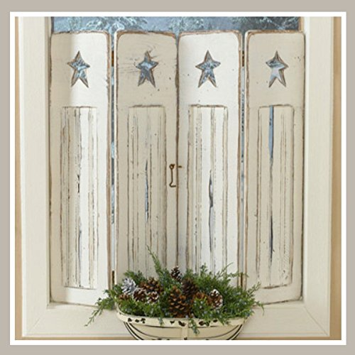 Primitive Star Bead Board Shutters