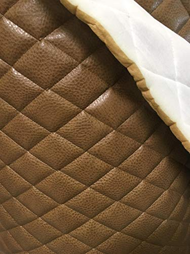 luvfabrics Dune Ford Faux Leather Quilted Vinyl Fabric with 3/8