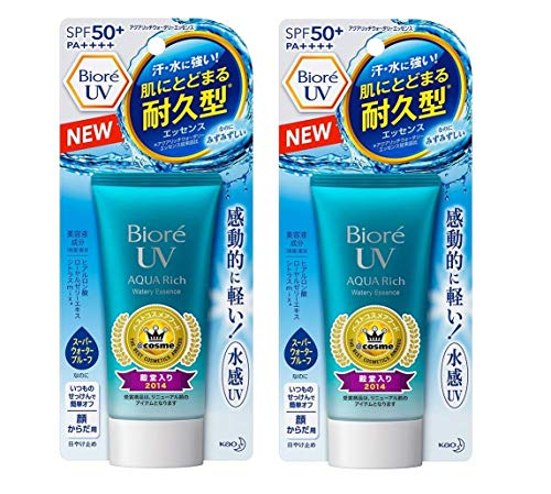 Biore UV Aquaric Water Wreath Essence Type SPF50+/PA++++ (pack of 2)