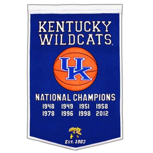 Kentucky Wildcats Basketball Championship Dynasty Banner - with hanging rod