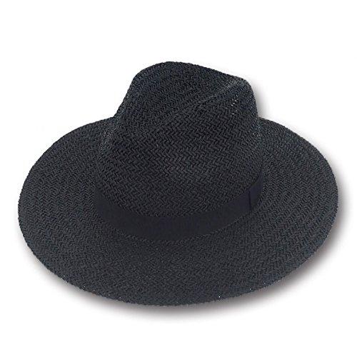 316c5283841 Amazon.com  Pascal Sun Styles 100% Paper Straw Modern-Day Classic Panama Style  Sun Hat - AH-381-BK  Clothing