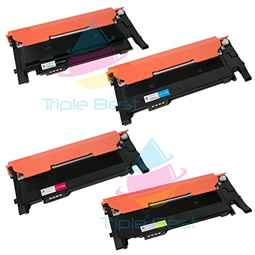 Triple Best Set of 4 Compatible Laser Toner Cartridges for Samsung CLT-K406S C406S M406S Y406S Toner Cartridges