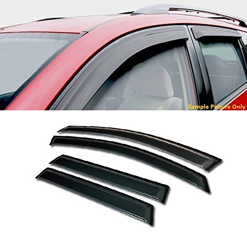 02 Ford Focus Wagon - VXMOTOR Curved Style Sun/Rain Guard Smoke Vent Shade Deflector Window Visors 4PC for 2000-2007 Focus 4 Door Wagon