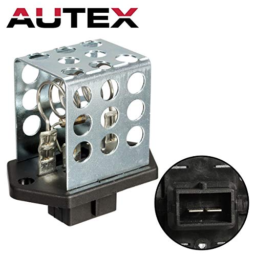 AUTEX Manual HVAC Blower Motor Resistor Compatible with Ford Contour,Mercury Mystique 95-00,Ford Focus 01-10,Ford Gt 05-06,Mercury Cougar 99-02 JA722 6R1037