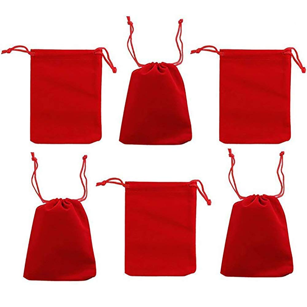 Amazon.com: 50 bolsas de regalo de terciopelo con diseño de ...