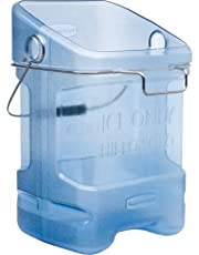"""Rubbermaid Commercial 5.5-Gallon Safe Ice Tote, Legend """"Ice Only, Hielo Solo"""", Rectangular, 13.3-Inch Width x 10.5-Inch Depth x 17.8-Inch Height, Transparent Blue (FG9F5300TBLUE)"""