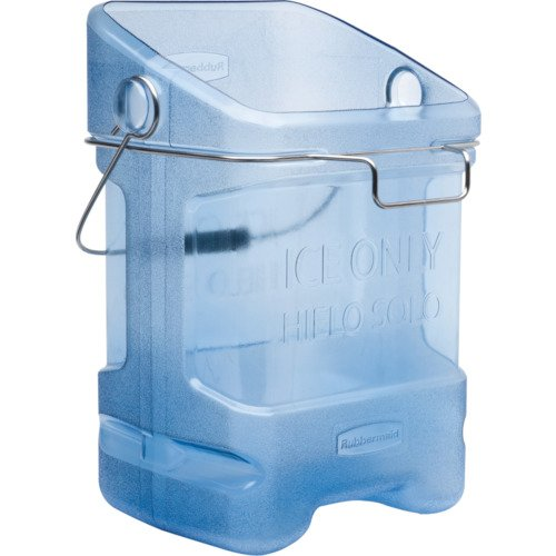 (Rubbermaid Commercial Ice Bucket Tote with Bin Hook Adapter, 5-1/2 Gallon, Blue)