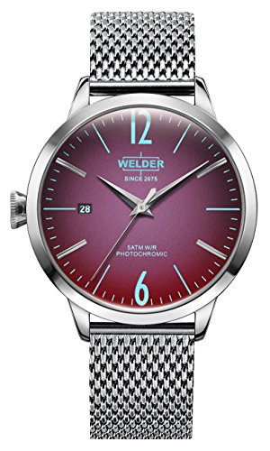 Welder Moody Stainless Steel Mesh 3 Hand Watch with Date 38mm