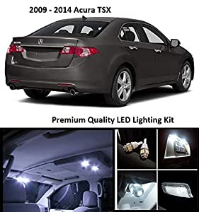 Elitetech 2009 2014 Acura Tsx Premium Led Package White Interior License