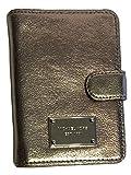 Michael Kors Jet Set Item Passport Holder Case Nickel Leather