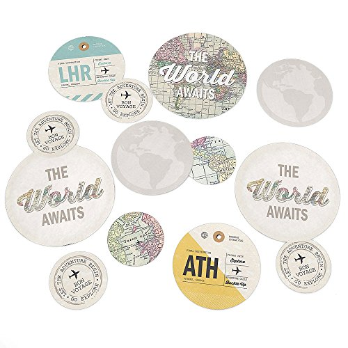 World Awaits - Travel Themed Party Table Confetti - 27 Count
