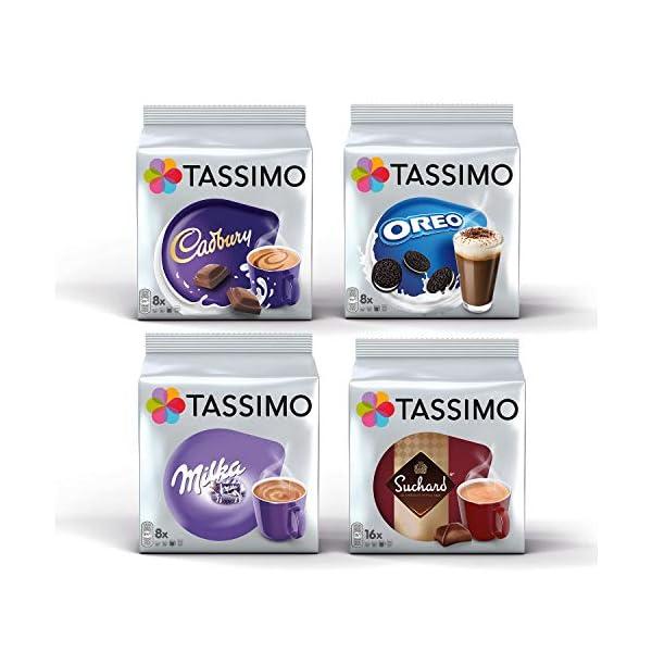 Tassimo Hot Choco Bundle Cápsulas – Cadbury, Oreo, Milka, Suchard – 4 Paquetes (40 Porciones) 51Q9o7OuPrL