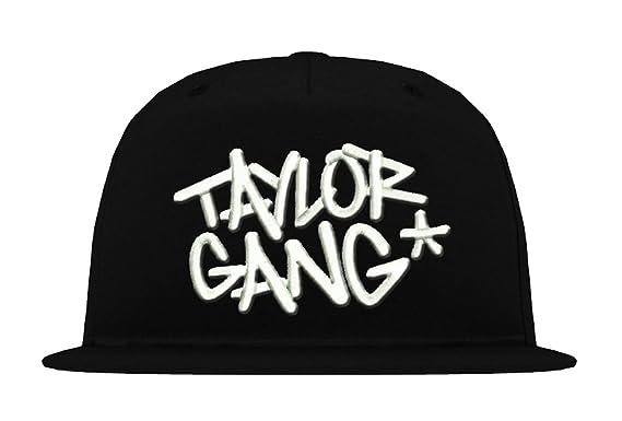 e20f8de0cbadf TRVPPY 5-Panel Flat-Peak Snapback Cap Model Taylor Gang Wiz Khalifa ...