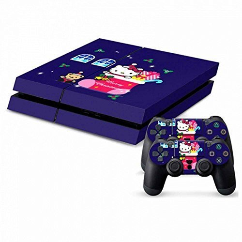 MODFREAKZTM Console and Controller Vinyl Skin Set - Kitten Xmas Stocking for Playstation 4