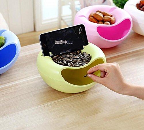 WOIWO Plastic Double Layer Dry Fruit Bowl