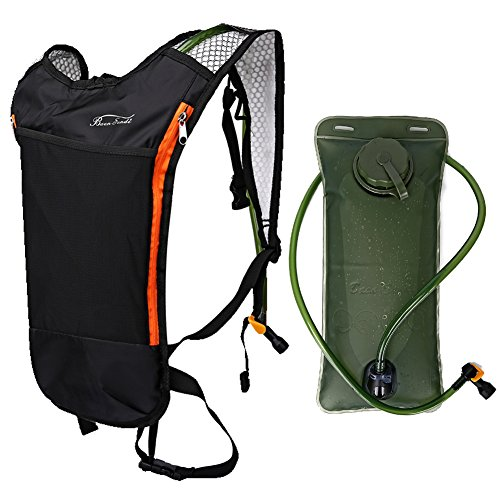Price comparison product image Baen Sendi Hydration Pack with 2L Backpack Water Bladder - Great for Outdoor Sports of Running Hiking Camping Cycling Skiing (Black Pack and Bladder)