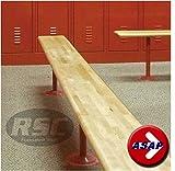 Hardwood Locker Room Bench Top (No Pedestals, Top Only) - 72'' L x 9.5'' W, 1.25'' Thick