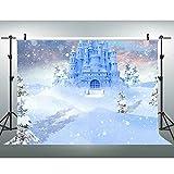 VVM 7x5ft Castle Backdrop Fairytale Frozen Paradise Photography Background White World Birthday Party Portraits Photo Booth Backdrop GYVV064